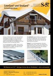 Color Gard und SnoGard.indd - CAVA Halbfabrikate AG
