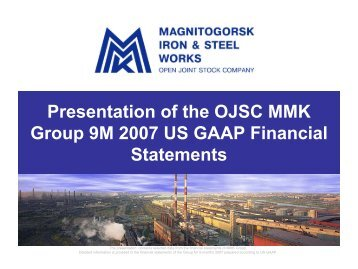 MMK Group US GAAP 9M2007 results - RUSTOCKS.com