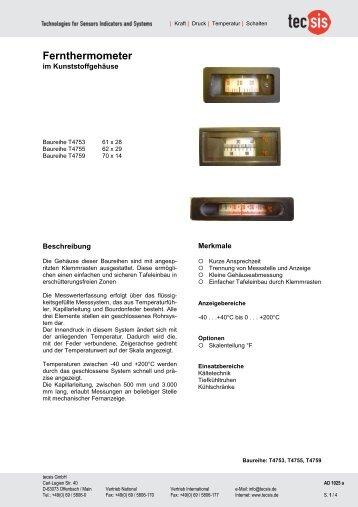 Produktdatenblatt - Tecsis GmbH