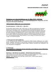 Einladung zur Lehrerfortbildung am 14. März 2012, 15.00 Uhr