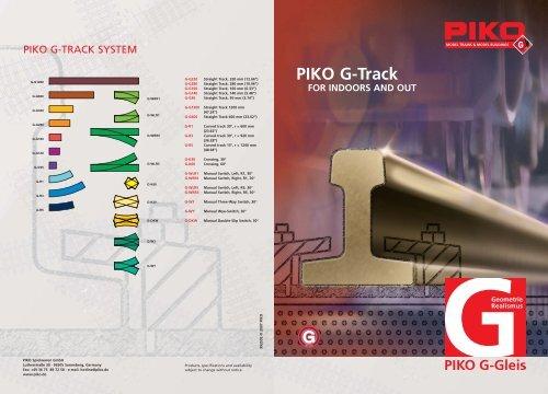 PIKO G-Track Leaflet G Gauge 99350E