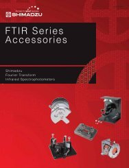 FTIR Series Accessories - Shimadzu Scientific Instruments