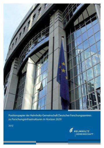 Forschungsinfrastrukturen - Helmholtz-Gemeinschaft Deutscher ...