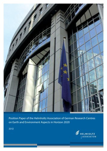 Position Paper of the Helmholtz Association of German Research ...
