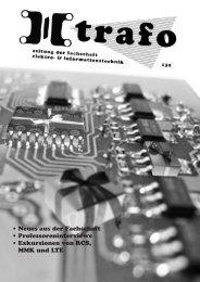 Trafo #132 - Fachschaft Elektrotechnik und Informationstechnik - TUM