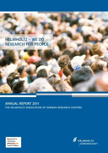 HELMHOLTZ – WE DO RESEARCH FOR PEOPLE