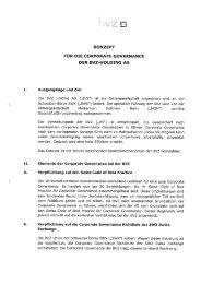 Konzept Corporate Governance der BVZ Holding AG