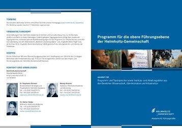Programm für die obere Führungsebene der Helmholtz-Gemeinschaft