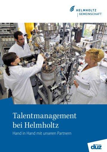 Talentmanagement bei Helmholtz - Helmholtz-Gemeinschaft ...
