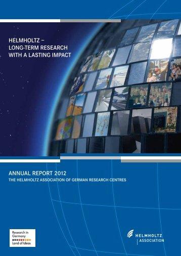 Download the entire brochure as a PDF - Helmholtz-Gemeinschaft ...