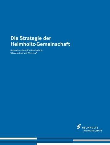 Die Strategie der Helmholtz-Gemeinschaft
