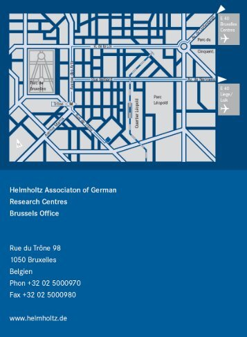 Directions from airport to Helmholtz Brussels Office, Rue