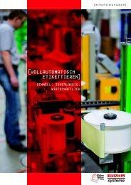 Schnell, zuverlässig, wirtschaftlich - Bluhm Systeme GmbH