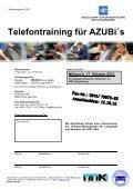 Telefontraining für AZUBi´s - Page 2