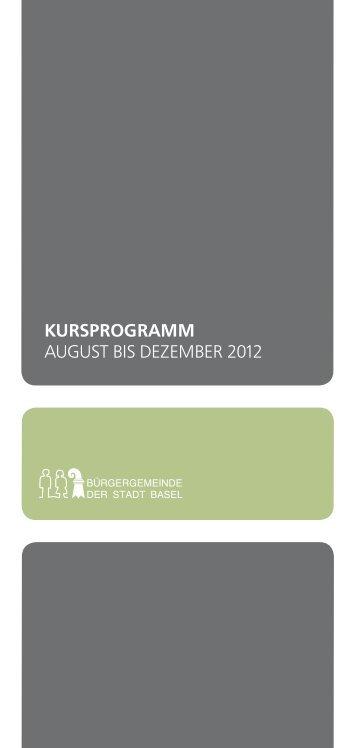 Kursprogramm - Bürgergemeinde Basel