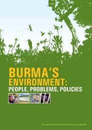 burma's environment - S. Rajaratnam School of International Studies