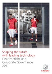 Shaping the future with leading technology ... - Schindler Group