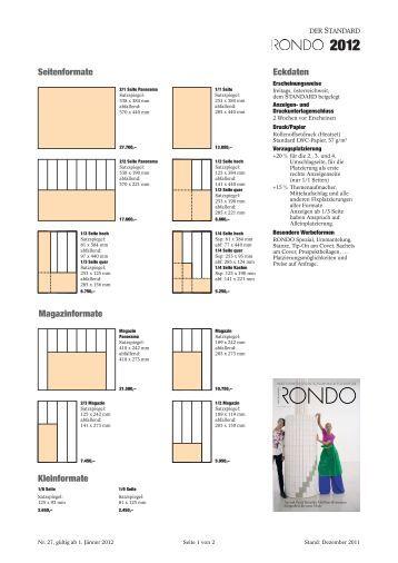 seitenformate magazinformate kleinformate eckdaten der standard. Black Bedroom Furniture Sets. Home Design Ideas