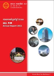 + Annual Report 2011 - Canadia Bank Plc.