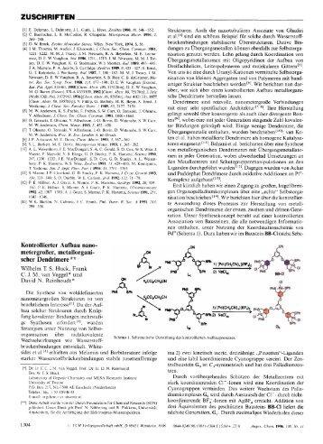 Kontrollierter Aufbau nanometergroßer, metallorganischer Dendrimere