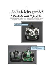 Umbau MX-16S Bericht MMK - rc-easy.com