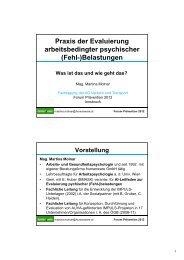 Praxis der Evaluierung arbeitsbedingter psychischer (Fehl ...