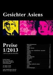 Gesichter Asiens Preise 1/2013 - Logo Reisen