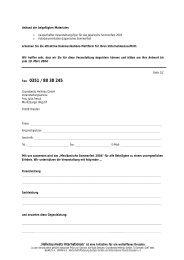 Sponsorenpakete, Antwortfax