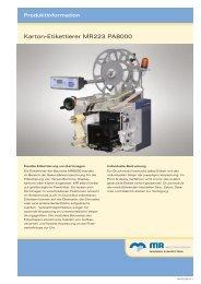 Karton-Etikettierer MR223 PA8000 - Multivac