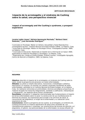 Impacto de la acromegalia y el síndrome de ... - SciELO - Infomed