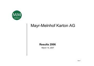 MM Karton - Mayr-Melnhof Karton AG