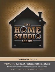 Front Cover Volume 1: Building A Professional Home Studio