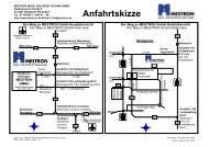 Anfahrtskizze - MESTRON Mess- und Regeltechnik GmbH
