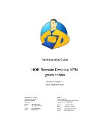 Download HOB RD VPN green edition Administration Guide