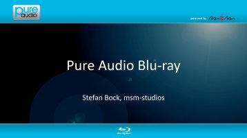 Pure Audio Blu-ray - Blu-ray Disc Academy