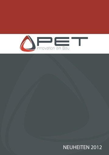 NEUHEITEN 2012 - PET Baustoffhandel Webshop