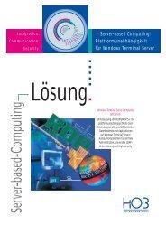 Server-based-Computing - HOB GmbH & Co.KG