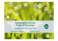 Sustainability and the Power of Recycling! - Deutsches CSR-Forum