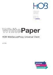 HOB WebSecureProxy Universal Client - HOB GmbH & Co.KG