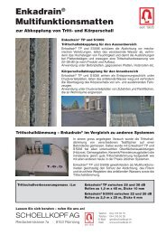 Enkadrain® Multifunktionsmatten - Schoellkopf AG