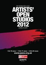 2012 PAOS Directory - Peterborough Artists' Open Studios