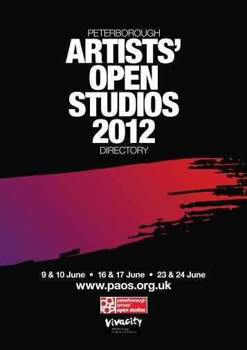 2012 PAOS Directory - Peterborough Artists' Open Studios