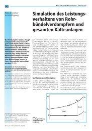 Simulation des Leistungsverhaltens von Rohrbündelverdampfern ...