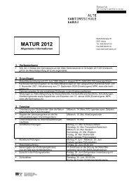 MATUR 2012 - Alte Kantonsschule Aarau