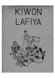 Kiwon Lafiya Chapter 1: Amfanin Abinci - Najude Pioneer School