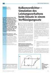 Kolbenverdichter - Simulation des Leistungsverhaltens beim Einsatz ...