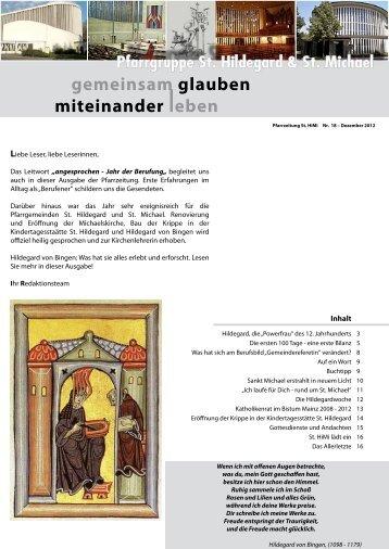 gemeinsam glauben miteinander leben - Pfarrgruppe St. Hildegard ...