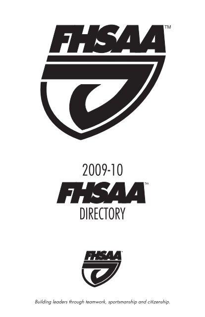 Directory 2009 10 Florida High School Athletic Association