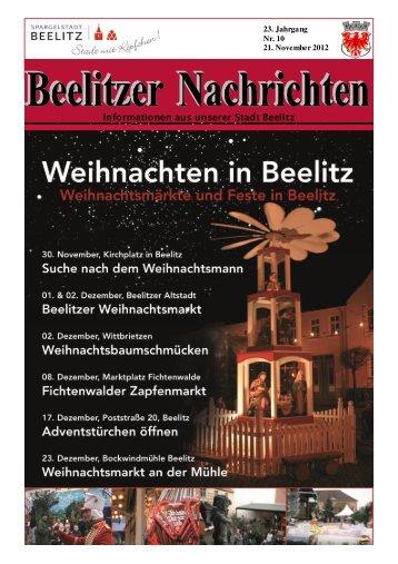 Informationen aus unserer Stadt Beelitz - Die Homepage der