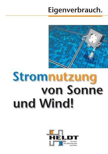 Stromnutzung von Sonne und Wind - Heldt